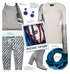 """""""Velvet Crush"""" by sara-cdth ❤ liked on Polyvore featuring Proenza Schouler, Issey Miyake, Lost & Found and Allurez"""