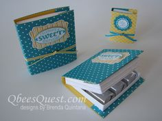 Hershey's Nugget Book Tutorial by Qbee - Cards and Paper Crafts at Splitcoaststampers