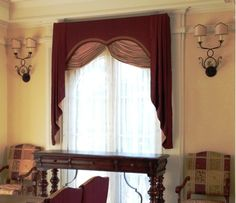 Scalloped Cornice with Swags