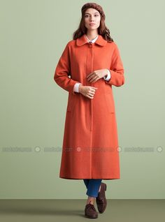 Manifesto Coat - Orange - Kuaybe Gider