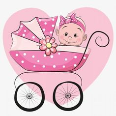 Cute Cartoon Baby girl is sitting on a carriage on a heart b .- Cute Cartoon Baby girl is sitting on a carriage on a heart background Cute cartoon baby girl royalty free cute cartoon baby girl stock vector art & more images of 2015 - Baby Girl Clipart, Baby Shower Clipart, The Babys, Baby Cartoon, Cute Cartoon, Storch Baby, Deco Baby Shower, Foto Transfer, Baby Shawer