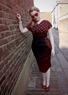 Jezebel dress. http://www.vivienofholloway.com/#VivienofHolloway #VivienHolloway #VoH #Vintagereproduction #madeinlondon #1950sstyle #1950sfashion #1950s #1950sglamour #pinupgirl #pinup #rockabilly #rockabillygirl #rockabillyclothing #pinupfashion