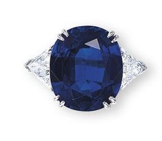 A Sapphire & Diamond Ring, By Harry Winston. Jewels: The Hong Kong Sale 29 November 2010.