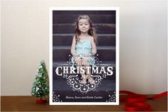 White Christmas Christmas Photo Cards by cadence paige design at minted.com