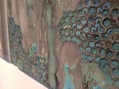 "FOLDING | FAULTING 2014, Carmen Vetter Exhibition. ""Rift IV"" kiln-cast glass detail."