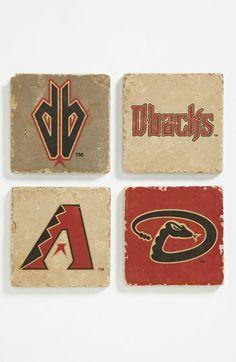 'Arizona Diamondbacks' Marble Coasters (Set of 4) available at #Nordstrom