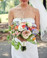 Soft, Cascading Bouquet // photo by: First Comes Love Photo // Bridal Bouquet: Parsonage Events Cascading Wedding Bouquets, Cascade Bouquet, Bride Bouquets, Flower Bouquet Wedding, Floral Bouquets, Pastel Bouquet, Multicolor Wedding, Sophisticated Wedding, Mod Wedding