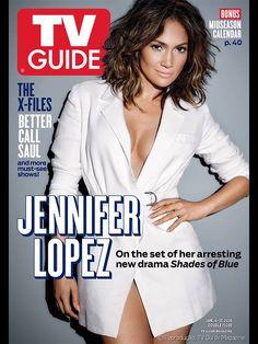 """Jennifer López es portada de TV Guide Magazine con el nuevo corte de pelo que dará a conocer en la serie de televisión, """"Shades of Blue""""."""