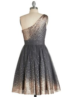 I wish I had more occasions to wear a dress like this Starlight Hearted Dress, #ModCloth $202.99