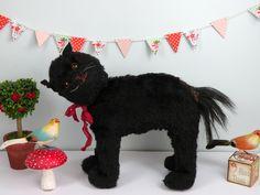 Merlin the black cat C1930 www.onceuponatimeears.co.uk