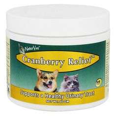 NaturVet Cranberry Relief 50gm Powder Dog & Cat Urinary Tract Health Supplement