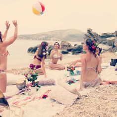 #madame shou shou #photoshoot #summer #collection #2013 #moments #girls #flowers #on #hair #have #fun #ball #sand #sea #friends #beautiful #moments