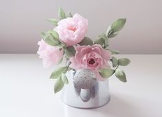 blooms in the air - blushing peonies