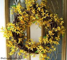 Spring Flower Wreath.  Super easy!