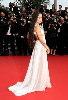 """Zoe Kravitz Photos - Zoe Kravitz attends Premiere of """"Mad Max: Fury Road"""" during the annual Cannes Film Festival on May 2015 in Cannes, France. - 'La Tete Haute' Red Carpet - The Annual Cannes Film Festival Valentino Couture, Mad Max, Zoe Kravitz Style, Lenny Kravitz, Zoe Isabella Kravitz, Cannes 2015, Glamour, Hollywood, Bridal Wedding Dresses"""