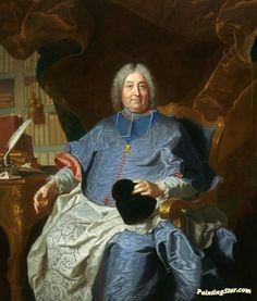 Charles Gaspard Guillaume de Vintimille du Luc, Archbishop of Paris (1656-1746) Artwork by Hyacinthe Rigaud