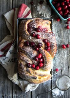 Cranberry Swirl Bread for your Thanksgiving table