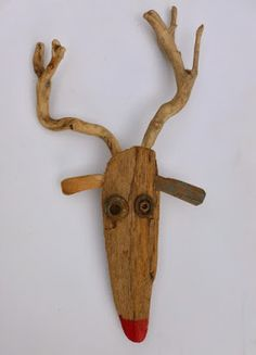 Scrap wood and branches reindeer