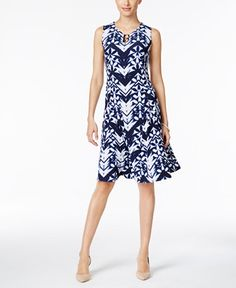 52.99$  Watch now - http://vimpv.justgood.pw/vig/item.php?t=ldooym54579 - Printed Fit & Flare Dress, Only at Macy's 52.99$
