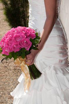 My wedding Bouquet! Hot pink!