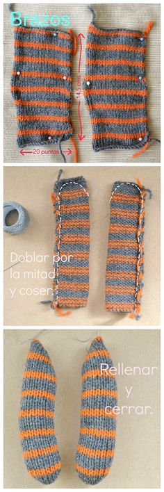 estherálvarezzzz: Otto: un osito paso a paso. Animal Party, Sewing Hacks, Diy And Crafts, Knitting Patterns, Socks, Tote Bag, Crochet, Blog, Knitting Toys