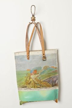 Canvas (ha!) bag from real oil painting. NOW I know where Brigitte mag in their current edition got the inspiration for their handmade gift idea from.