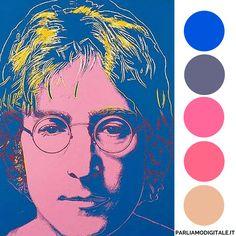 #Lennon ritratto da Andy #Warhol (Palette di Colori) via #ParliAmoDigitale #Magazine