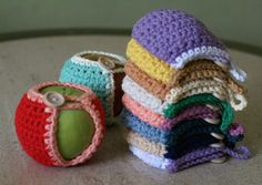 Handmade Crocheted Apple Cozy in Natural and by MotivesAndPatterns, $8.99