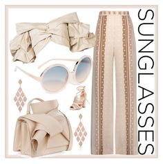 """Vintage Love: Retro Sunglasses"" by easy-dressing ❤ liked on Polyvore featuring N°21, Jonathan Simkhai, Johanna Ortiz, Call it SPRING, Anne Sisteron, modern, vintage and RetroSunglasses"