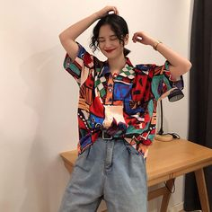 Retro Outfits, Grunge Outfits, Vintage Outfits, Cool Outfits, Vintage Fashion, K Fashion, Fashion Outfits, Funky Fashion, Looks Style
