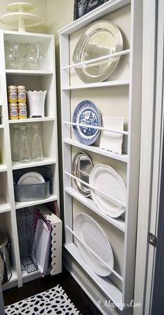 diy custom plate rack for under 40, closet, kitchen design, shelving ideas, wall decor