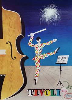 1985 Tivoli Gardens by Helge Refn  Original by OutofCopenhagen