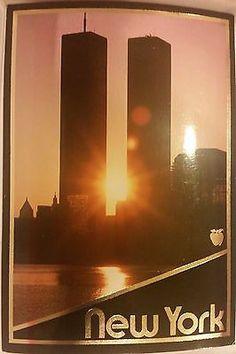 MANHATTAN World Trade Center Pre 9/11 Postcard NYC Skyline