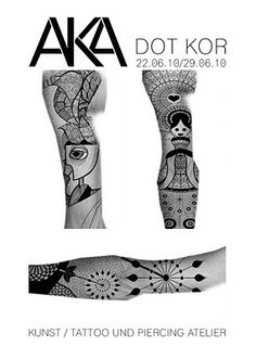Youth Tattoos: DOT KOR at AKA till 28th June