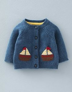 Crochet Boats Cardigan