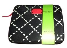 New Kate Spade Ipad Case - Black With White And Red Accents  $25