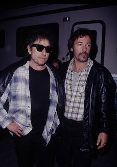 Bob Dylan & Bruce Springsteen. Wow- two of America's prolific songwriters