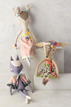 Fashionable Fauna Doll #anthrofave #anthropologie