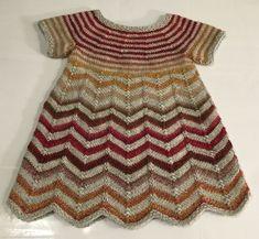 203 A, kjole i zig-zag striber – Anita Garn & Strik