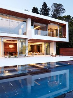 Most Design Ideas Modern Exterior Home Ideas Pictures, And Inspiration – Modern House Design Exterior, Modern Exterior, Modern Paint Colors, Modern Mansion, Bungalows, House Goals, Pool Designs, Modern House Design, Luxury Real Estate
