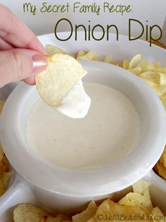 Yummy #recipe! A three ingredient onion dip that easily converts to a salad dressing. Perfect for your next dinner party or sports get-together!
