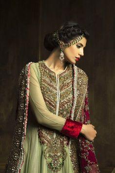 Pakistani Designer Ammar Shahid Bridal Wear Collection 2013 For Wedding Asian Wedding Dress, Asian Bridal, Pakistani Wedding Dresses, Pakistani Outfits, Indian Dresses, Women's Dresses, Latest Bridal Dresses, Wedding Dresses 2014, Bridal Outfits