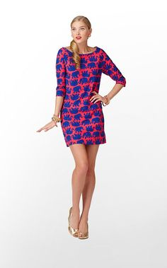Cassie Dress in Kissy Pink Tusk In Sun. NEED. It's a Lilly elephant print, if this doesn't scream me I don't know what does!