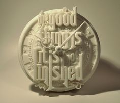 3d printed clock - diligence