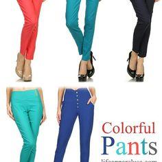Need some Colored Pants?  www.lifoapparelusa.com
