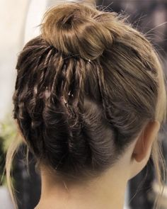 Ballerina bun for short hair: add a few twists in the back. I feel like even though it's for a little girlie could still pull it off...