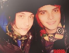 Frank and Gee - wear your cool scarf to work day XD