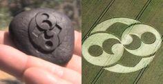 Possível artefato alienígena tem desenho replicado em Agroglifo