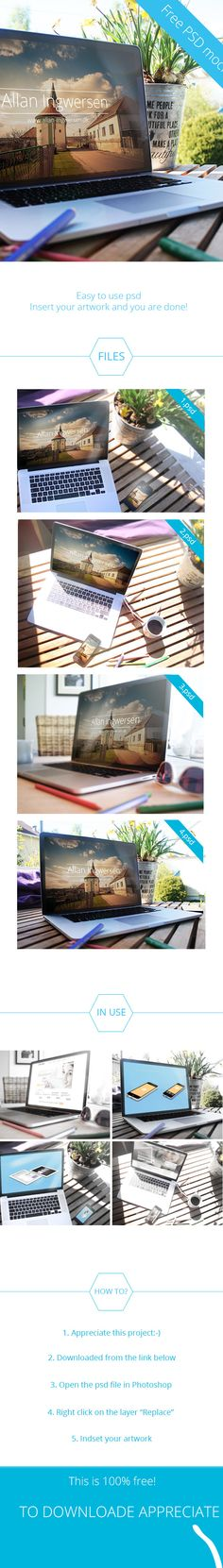 Free PSD Mockup by Allan Ingwersen, via Behance