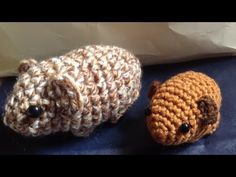 This video is about how to crochet a Baby Guinea Pig. You can find the pattern from Ravelry by Kati Galusz. http://www.ravelry.com/patterns/library/newborn-g...